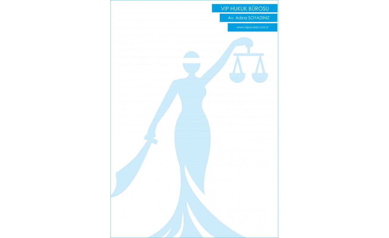 Avukat - Hukuk Bürosu Antetli Kağıt ANT805
