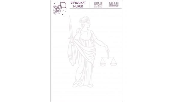Avukat - Hukuk Bürosu Antetli Kağıt ANT806