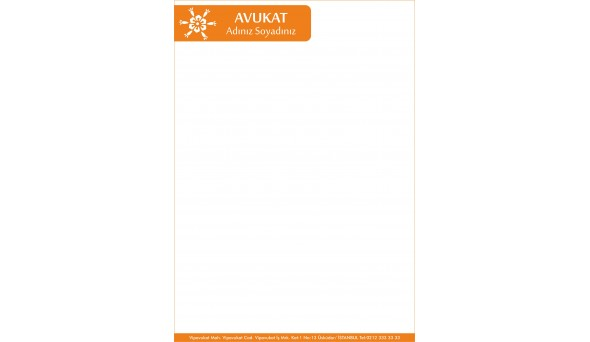 Avukat - Hukuk Bürosu Antetli Kağıt ANT808
