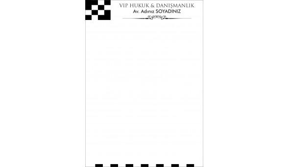 Avukat - Hukuk Bürosu Antetli Kağıt ANT809