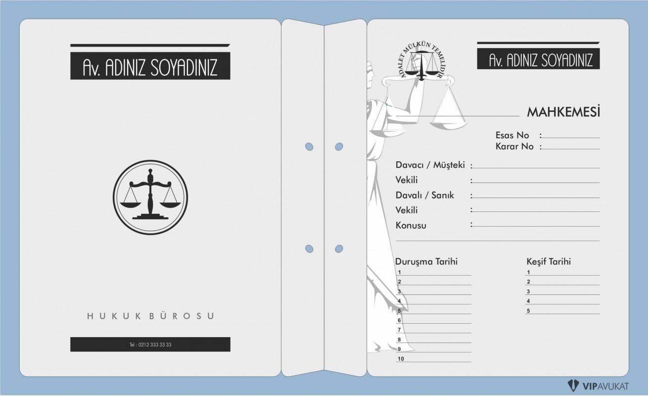 Avukat Büro Dosyası AD616 - İki Renk