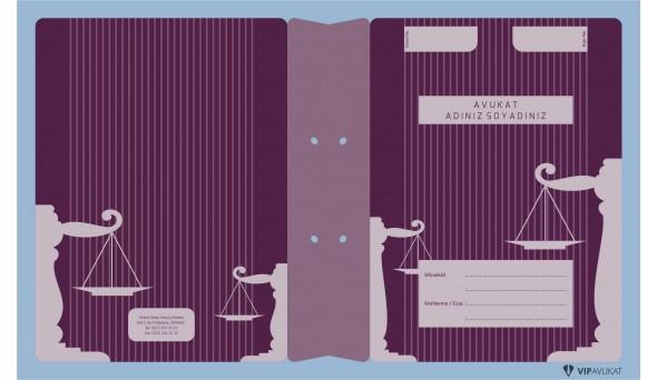 Avukat Büro Dosyası AD619 - İki Renk
