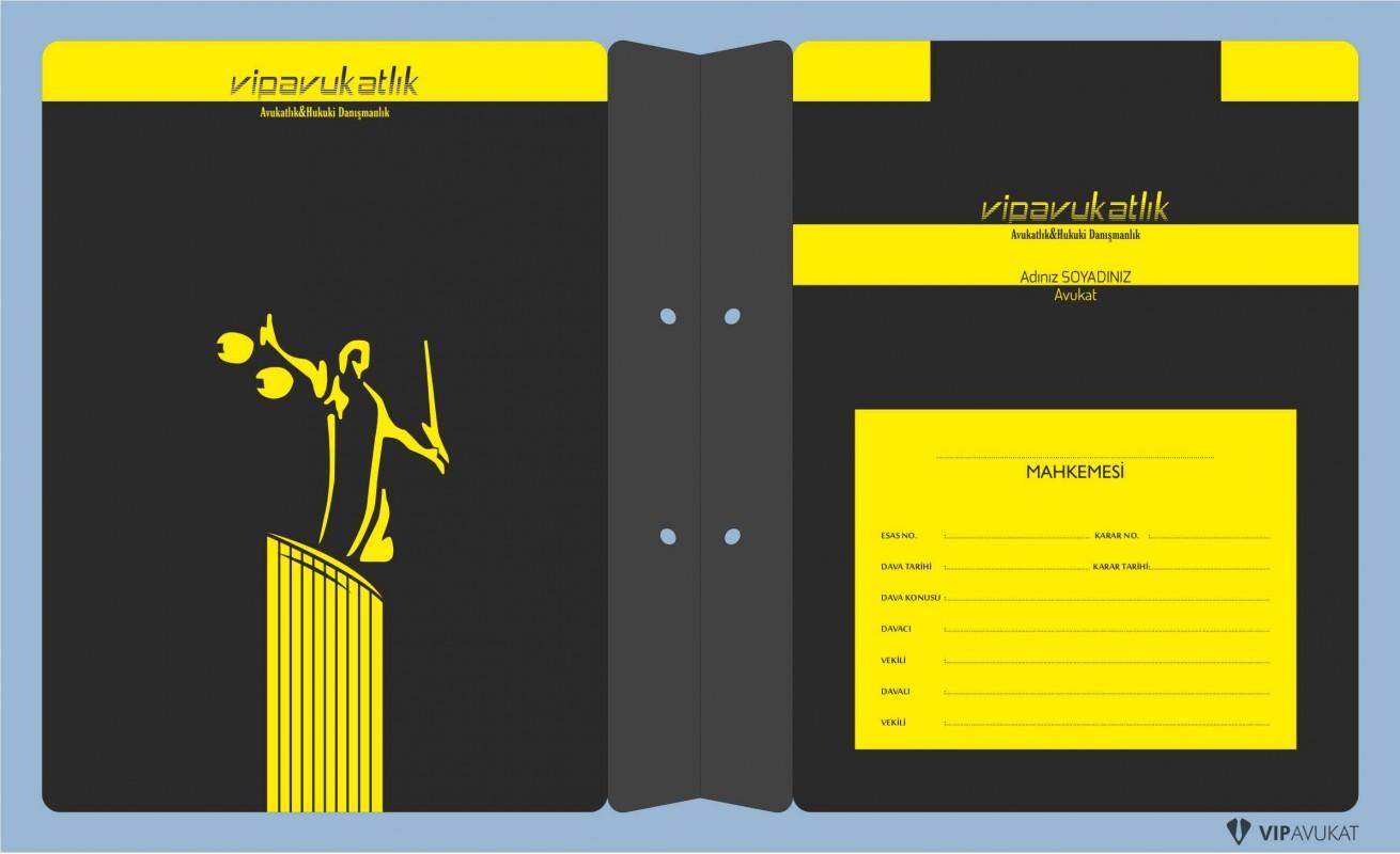 Avukat Büro Dosyası AD629 - İki Renk