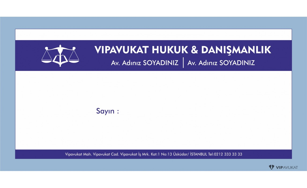 Avukat - Hukuk Bürosu Diplomat Zarf ZRF801
