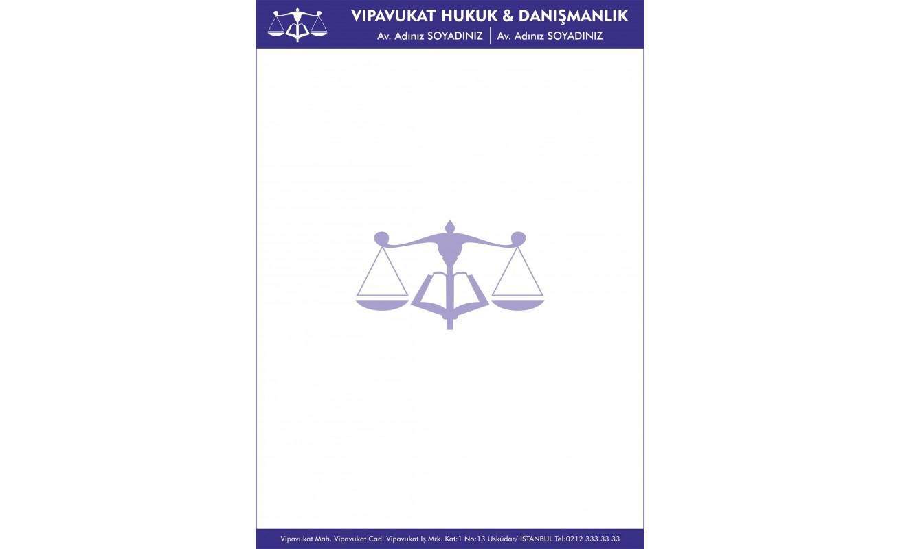 Avukat - Hukuk Bürosu Antetli Kağıt ANT801