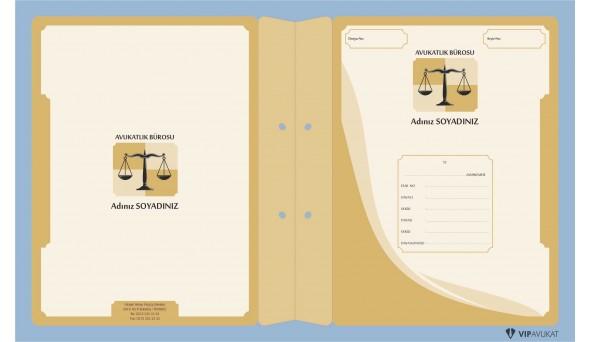 Avukat Büro Dosyası AD623 - İki Renk
