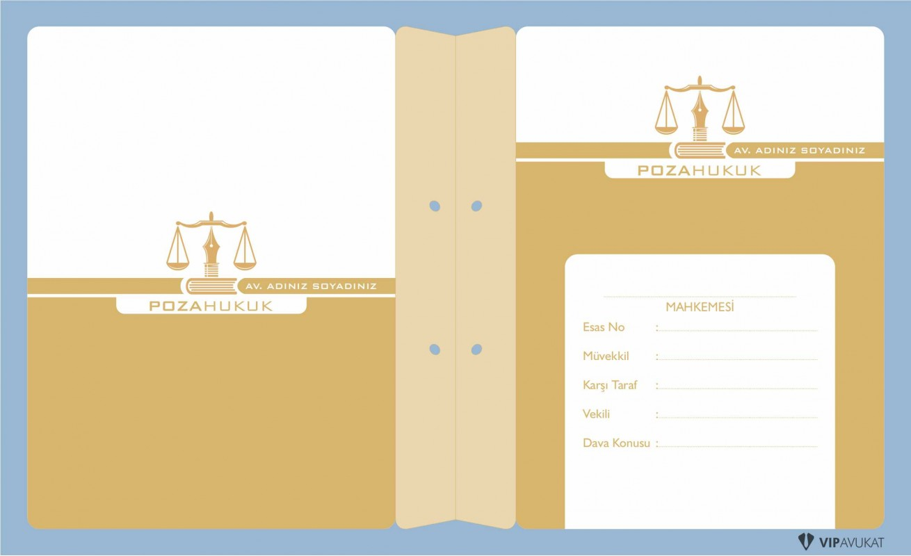 Avukat Büro Dosyası AD632