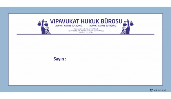 Avukat - Hukuk Bürosu Diplomat Zarf ZRF803
